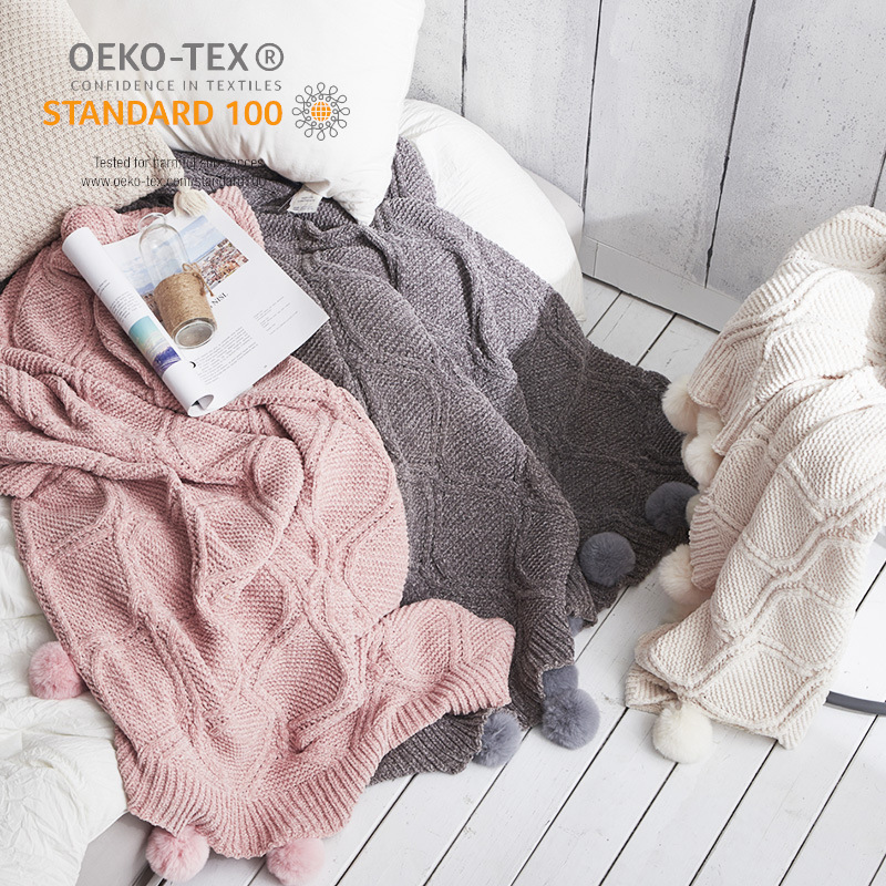 Warm Cable Knit Blanket for Cozy Weather