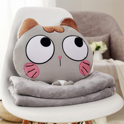 Adorable Animal Pillow Blanket for Accessible and Convenient Use during Travel