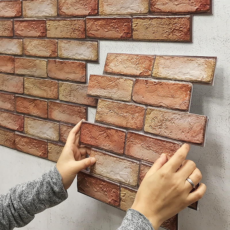 Three-Dimensional Brick Design Wall Sticker for Decorating Rooms