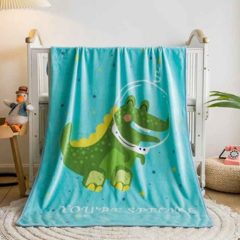Soft and Comfy Big Blanket Designed with Cartoon for Cold Season Use