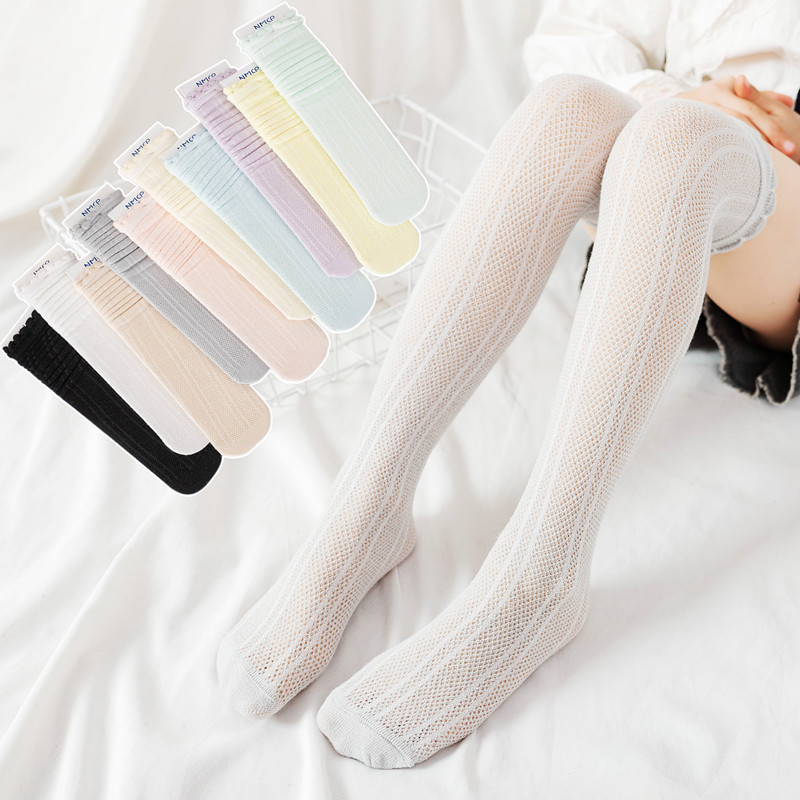 Breathable Thigh-High Cotton Socks for Adorable Looks