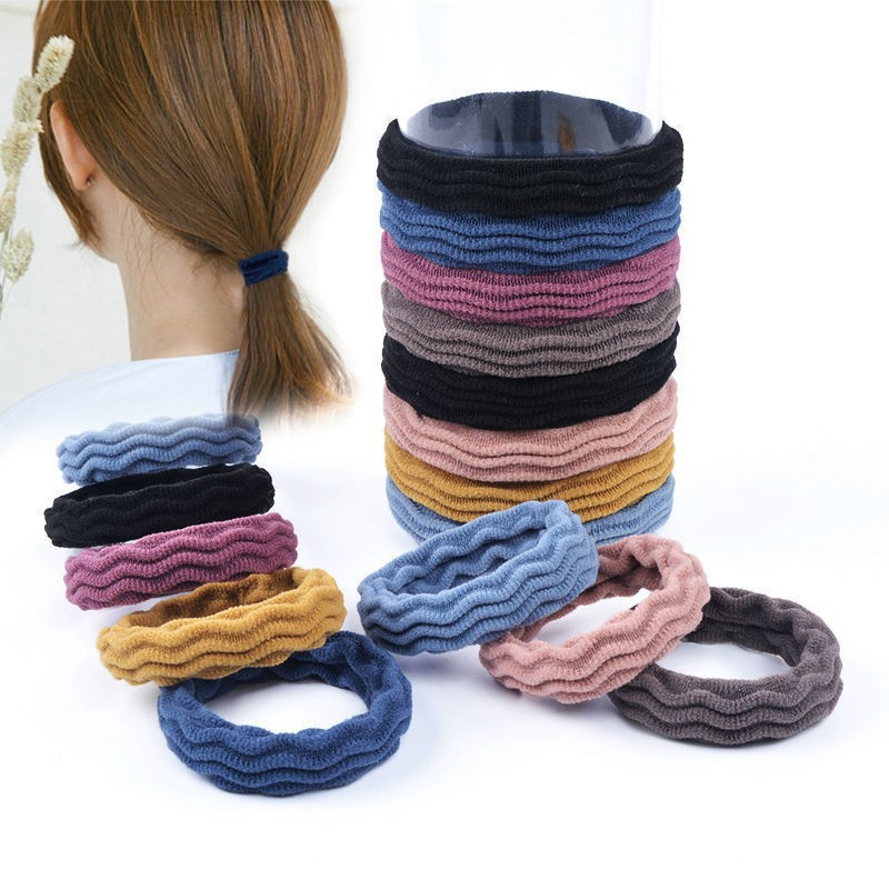 Useful Solid Color Wave-pattern Hair Tie for Everyday Use