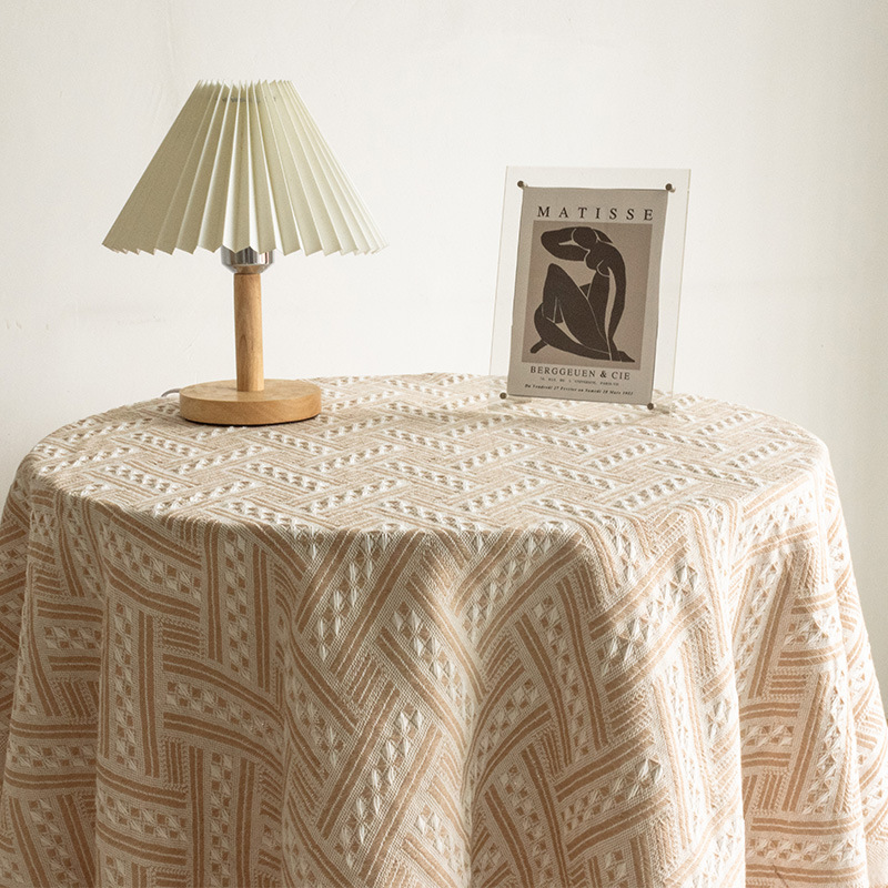 Upscale Cotton Tablecloth for Weekly Family Gathering