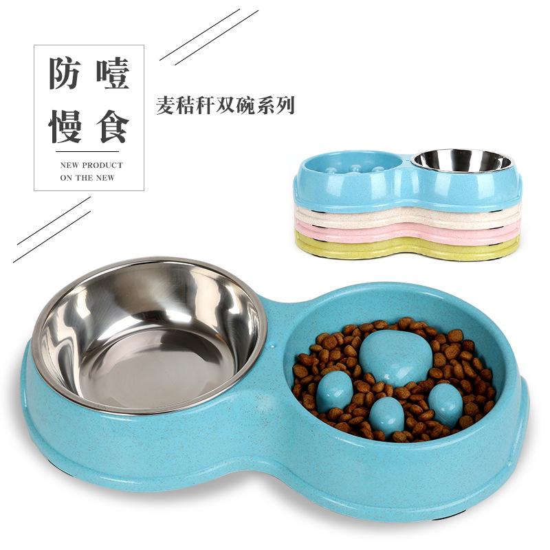 Creative Double Pet Bowl for Pet Feeding Supplies