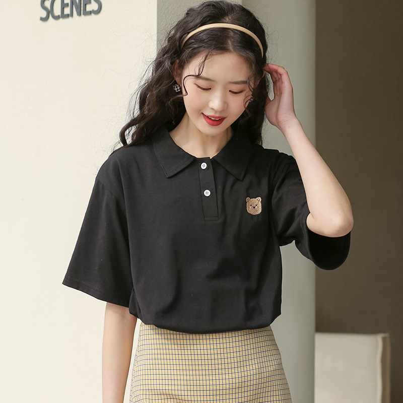 Adorbs Bear Patch Polo Shirt for Everyday Get-Up