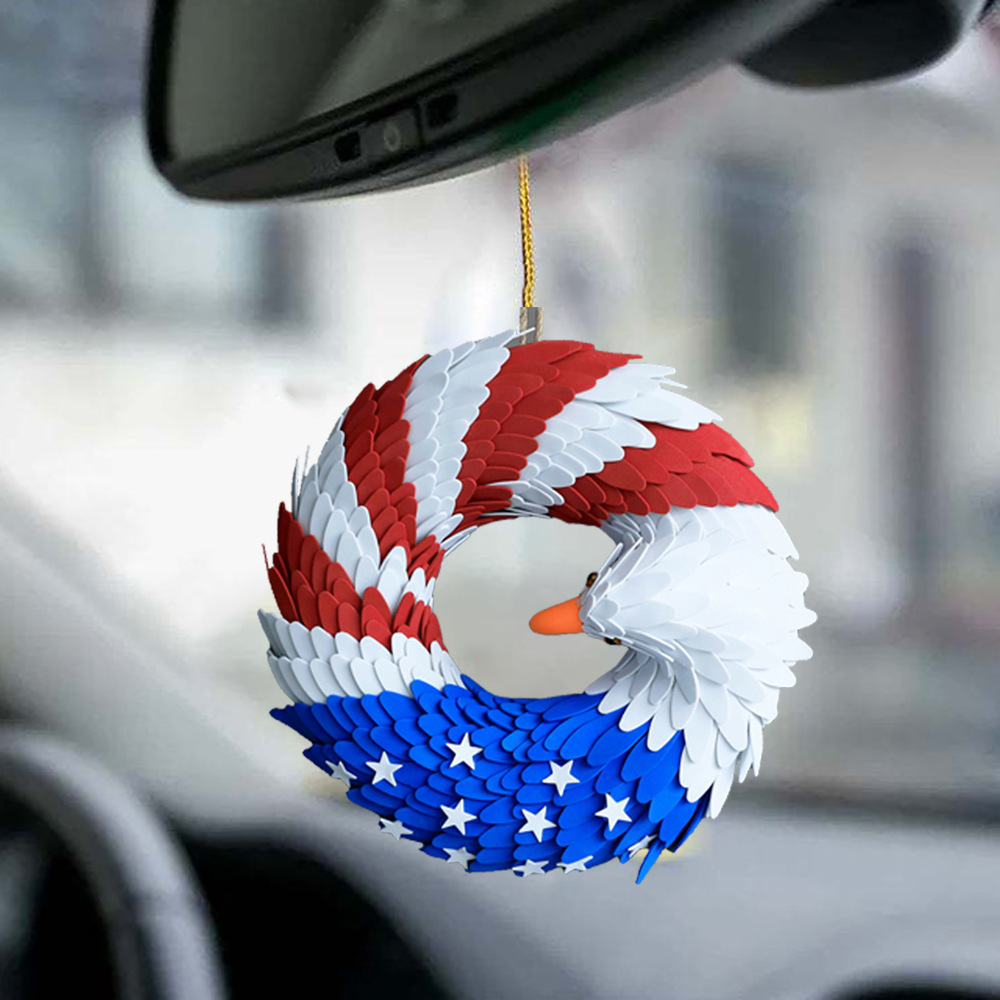 American Independence Day Decoration Garland for Car Rearview Mirror Decoration