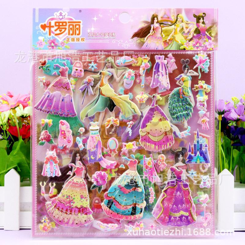 Gem Princess Dress Stickers for Gifting to Your Niece