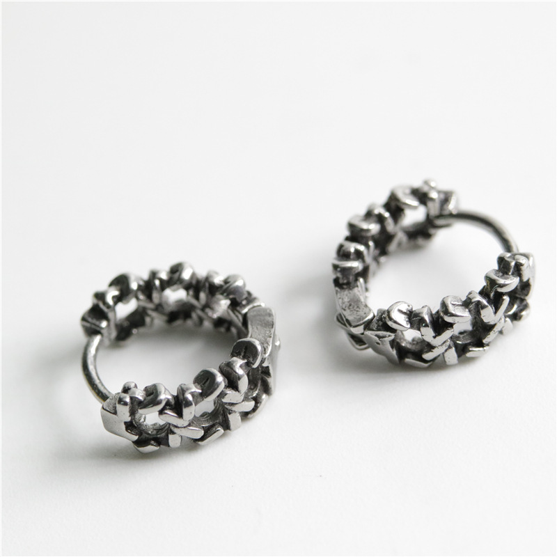Retro Knotted Chain Unisex Earrings for Daily Use