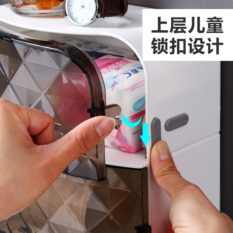 Unique Double Cartridge Wall-Mounted Tissue Box for Bathroom
