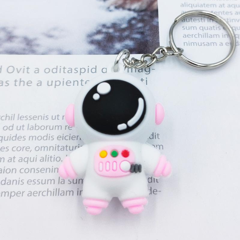 Cartoon Astronaut-Shaped Soft Rubber Keychain for Your Car Keys