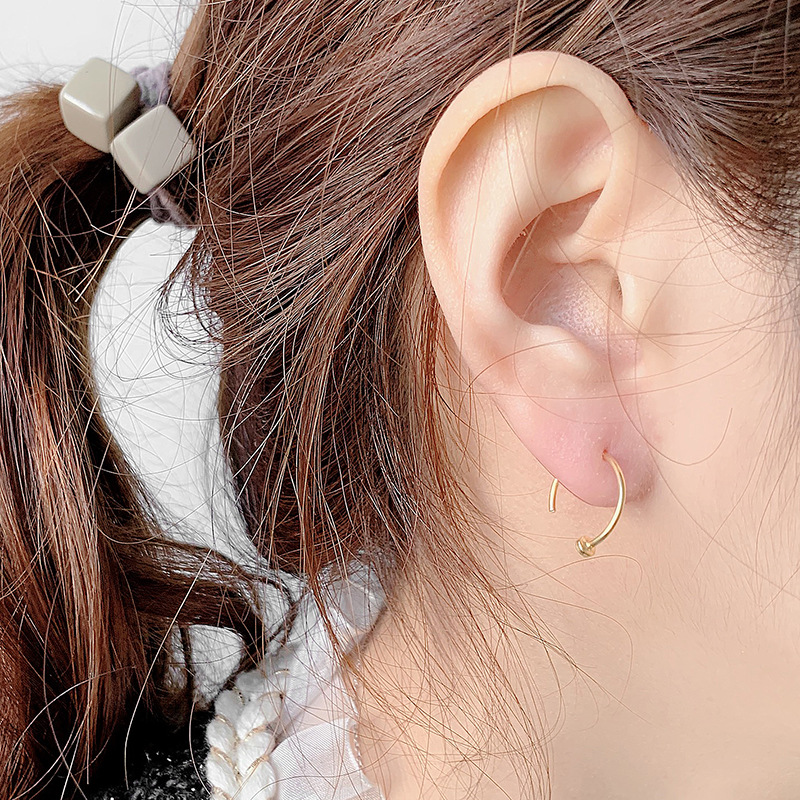 Charming Princess Silver/Gold-Plated Earrings for Everyday Streetwear