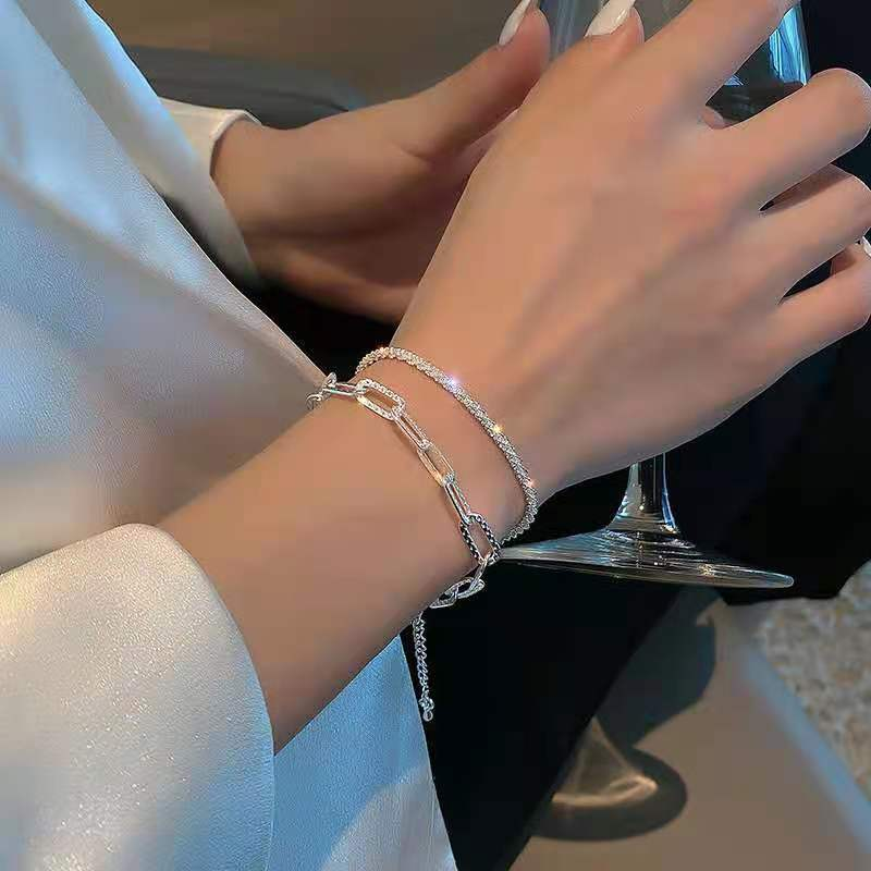 Sparkling Chain Bracelets for Semi-Formal Occasions