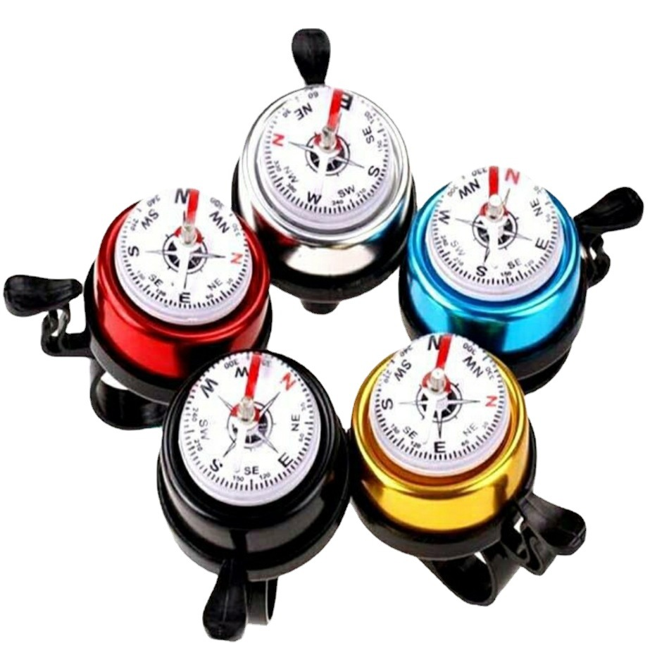Useful Small Compass with Bell for Bicycle Accessories