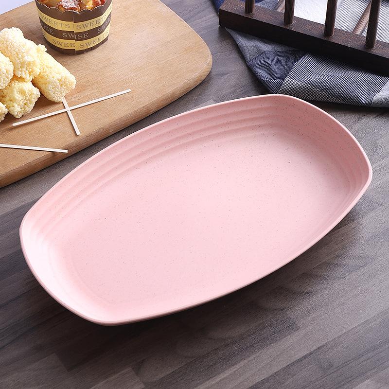 Durable Rectangular Serving Plate for Caesar Salad