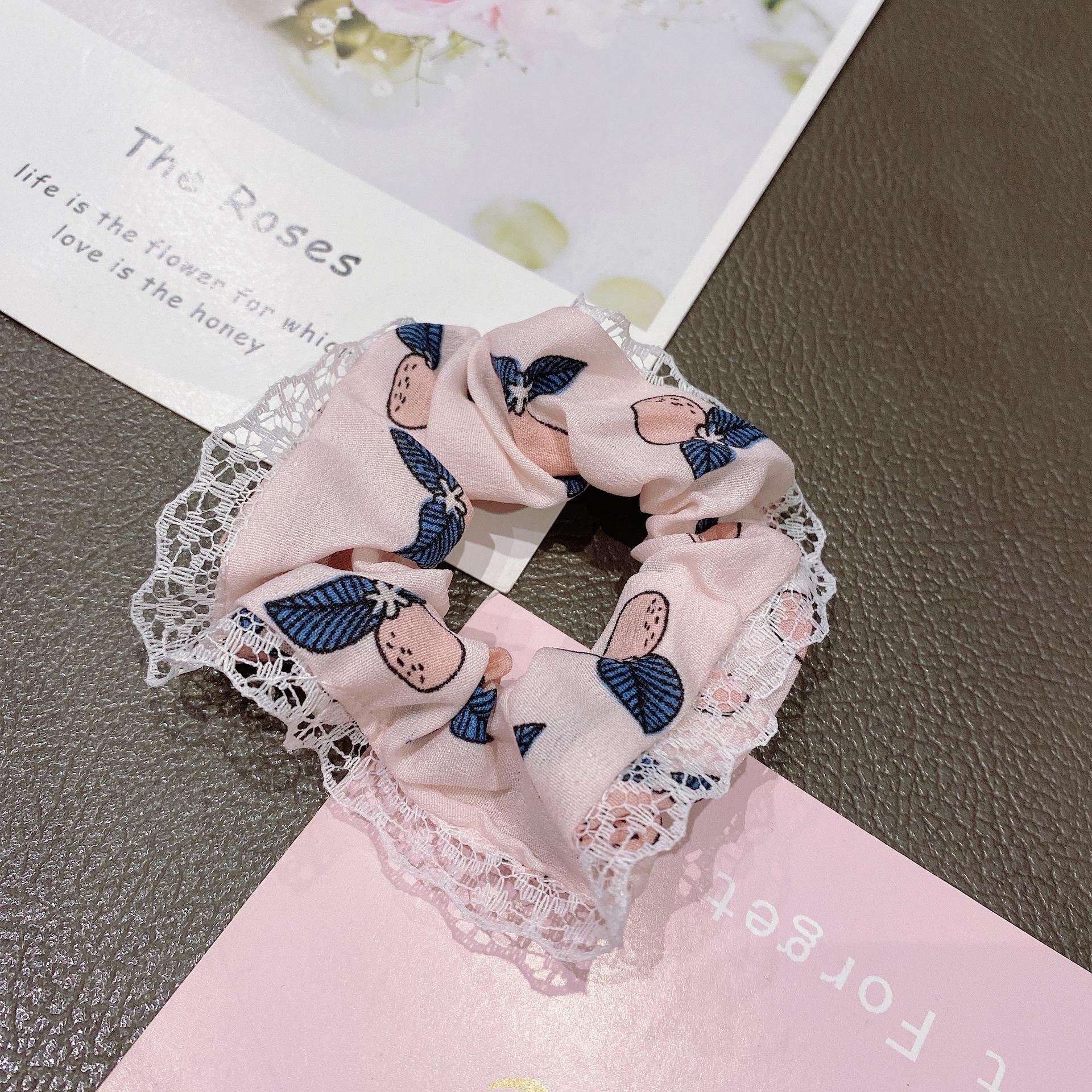 Laced Cute Design Scrunchie for Picnics