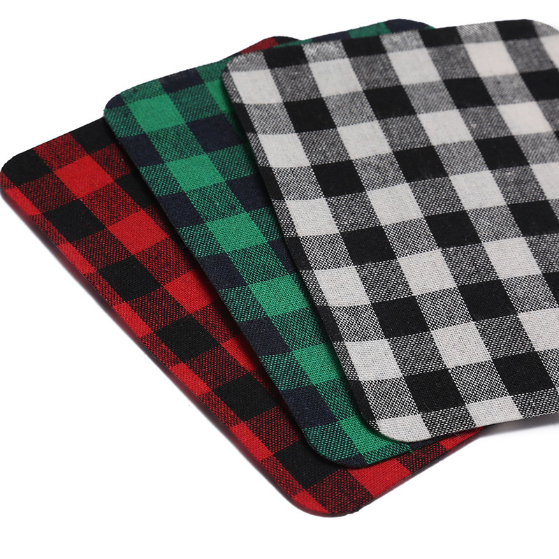 Trendy Soft Plaid Patch for Retro Looks