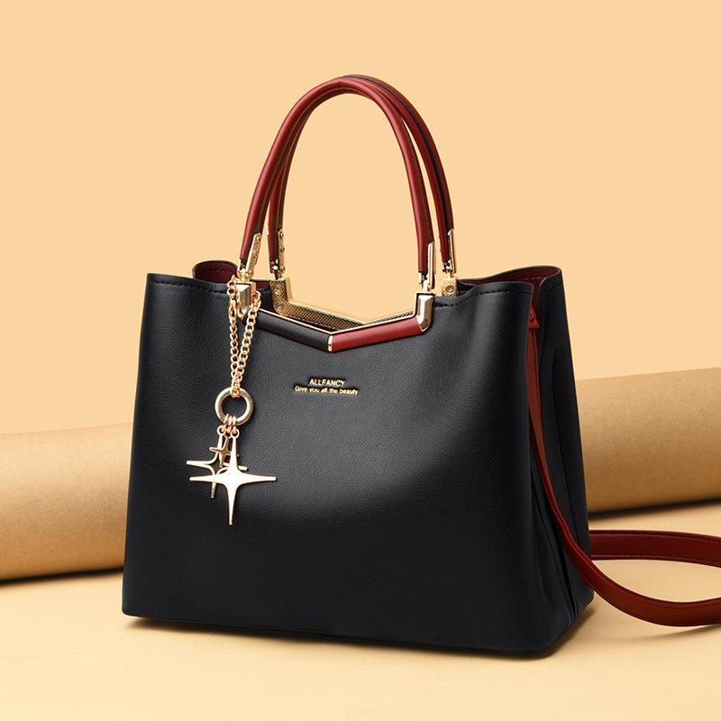 Elegant Shoulder Handbag for Middle-Aged Women