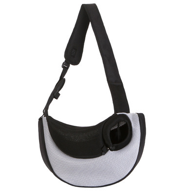 Portable Oxford Cloth and Mesh Crossbody Bag for Carrying Pets Comfortably