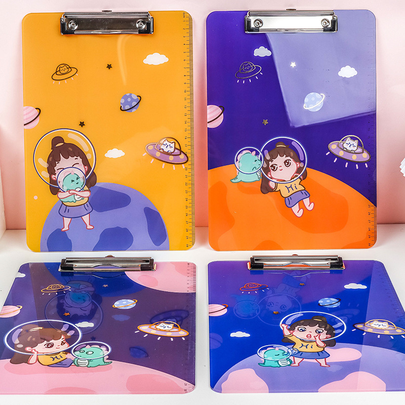 Adorable Cartoon Print Clipboard for Keeping Papers in Place