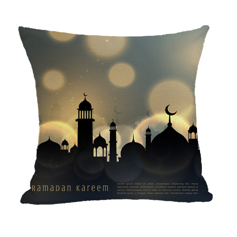 Alluring Without Core Pillowcase for Ramadan Home Decororation