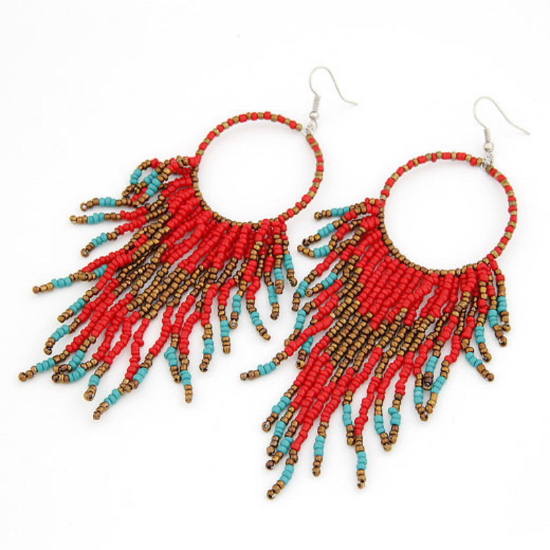 Vibrant Alloy Wire Hook Earrings for Boho Chic Looks