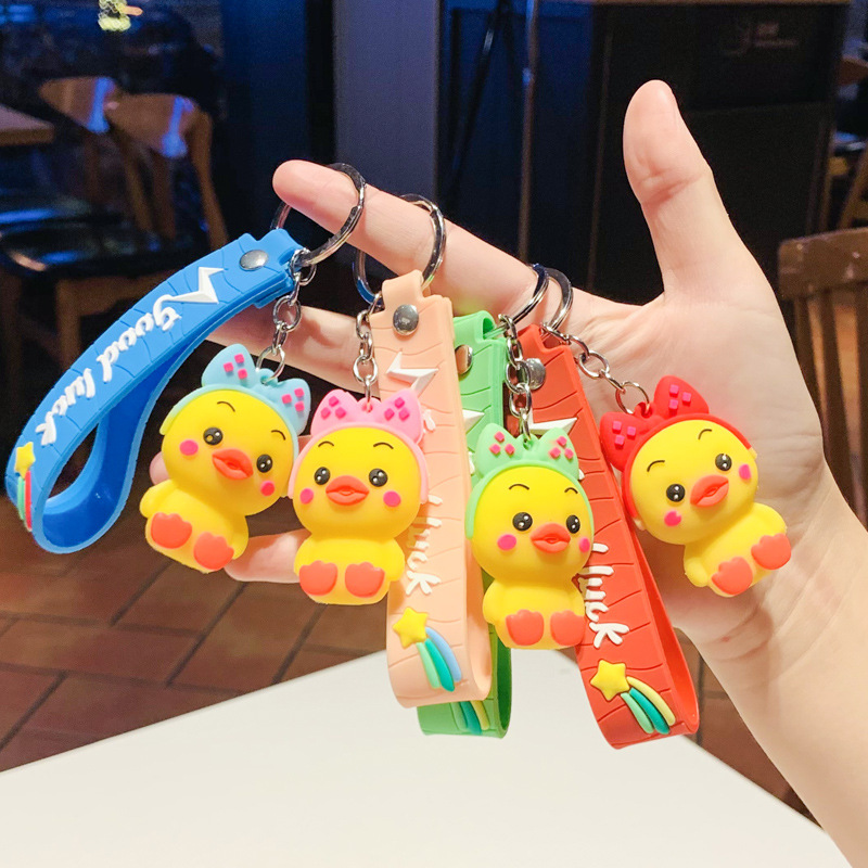 Adorable Cartoon Duck Keychain for Cute Personal Ornaments