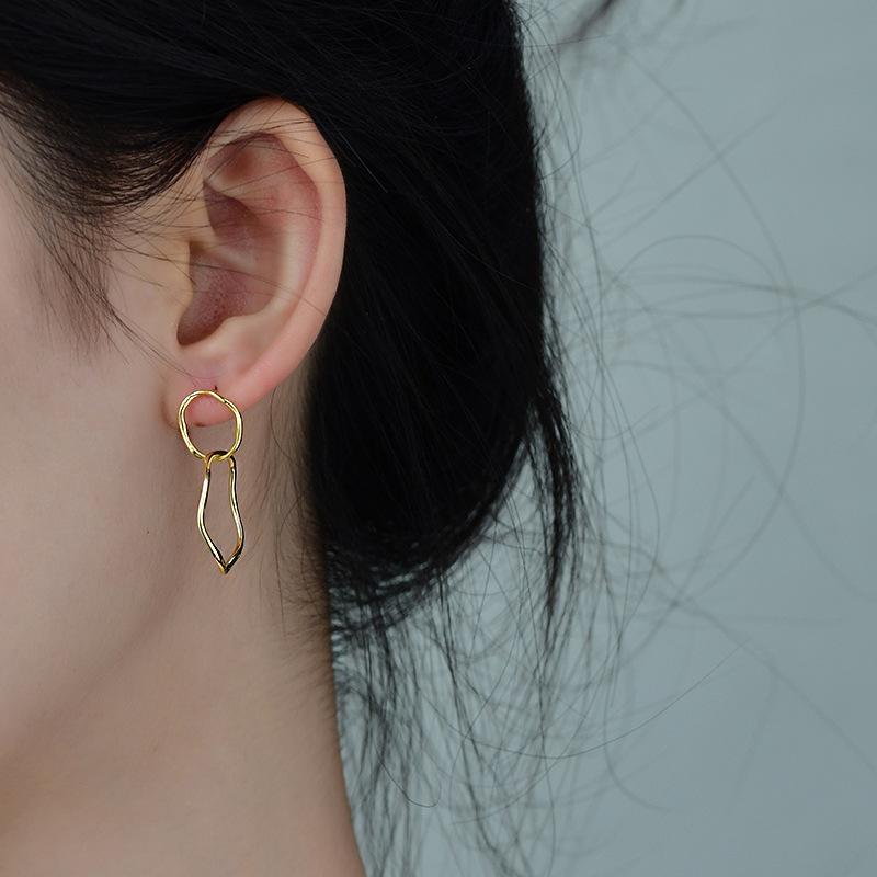 Simplistic Irregular Shaped Earrings for Casual Look