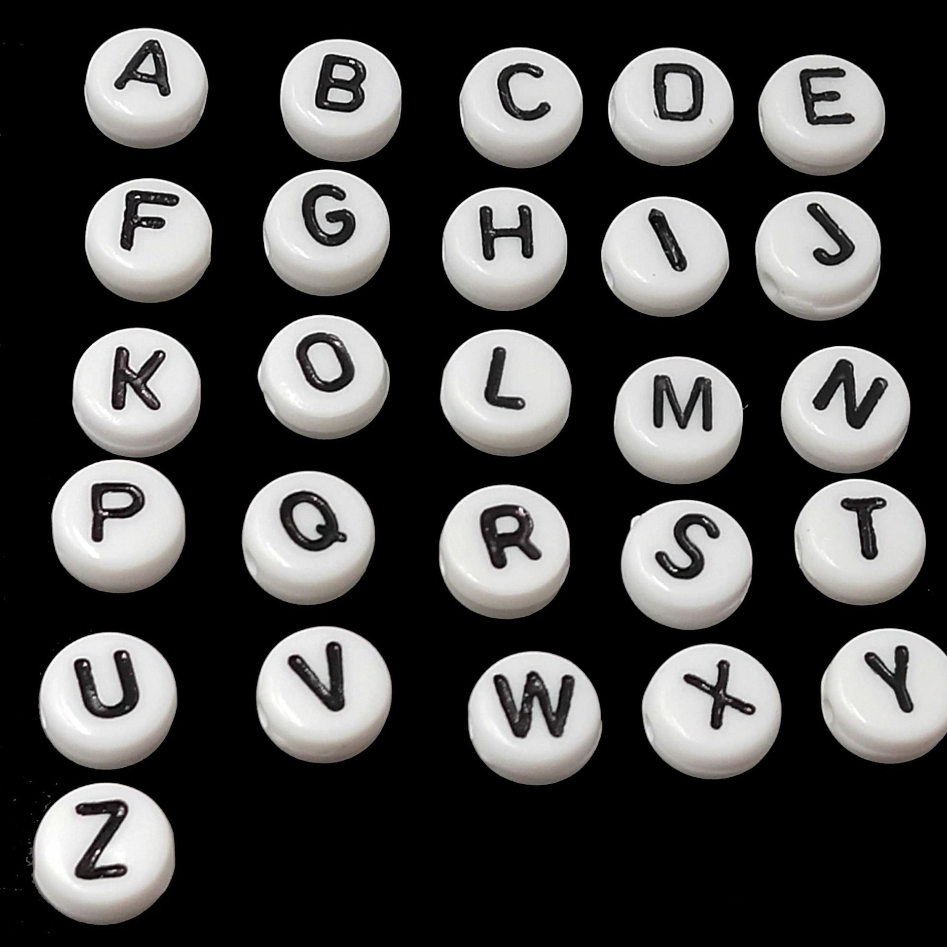 Fashionable Letter Style Beads for Necklaces or Bracelets