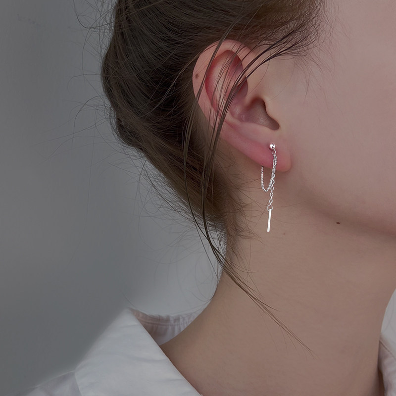 Modern Silver Threader Earrings for Baddie Inspired Look