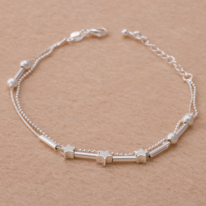 Captivating Silver-Plated Anklet with Lobster Claw Lock for Minimalist Fashion