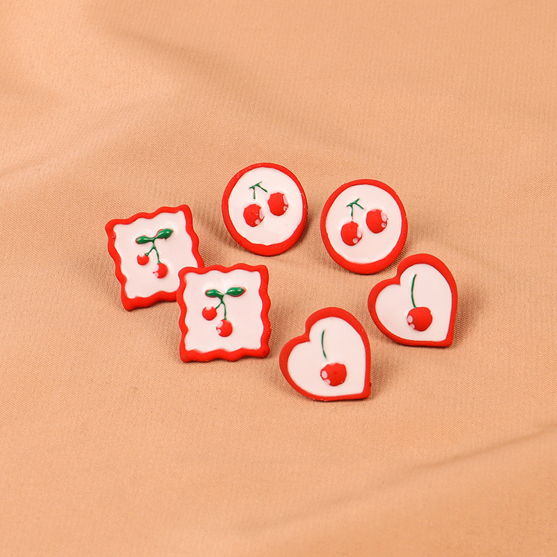 Sweet Looking Cherry Shapes Stud Earrings for Charming Look