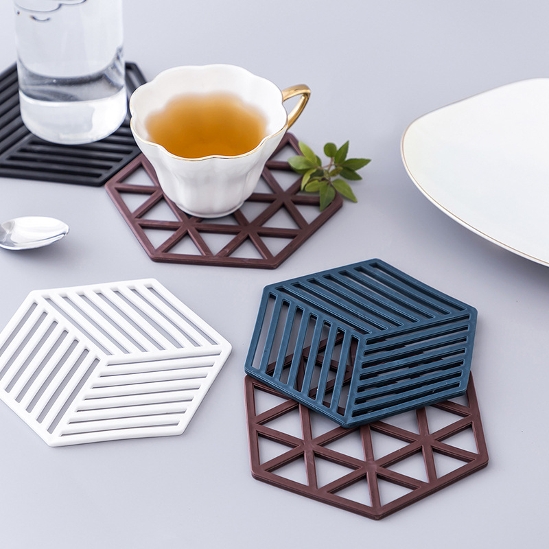 European Style Anti-Slip Rubber Insulation Pad for Hot Soup and Tea Cups