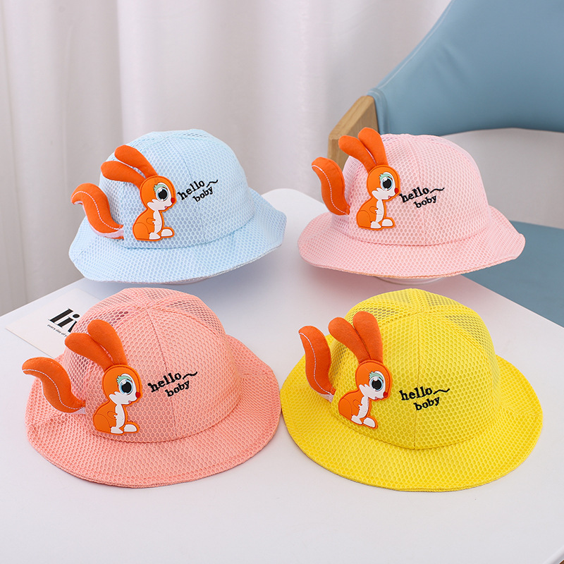 Orange Squirrel Companion Hat for Protecting Your Children from the Sun