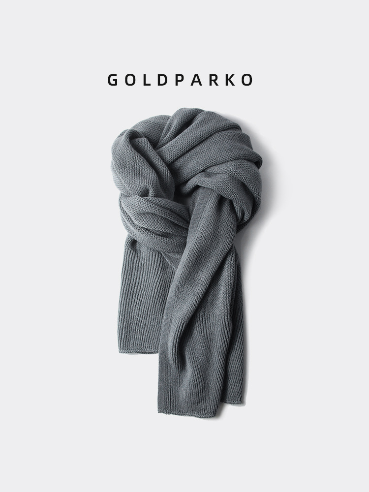 High-End Solid Color Acrylic Scarf for Anniversary Gifts