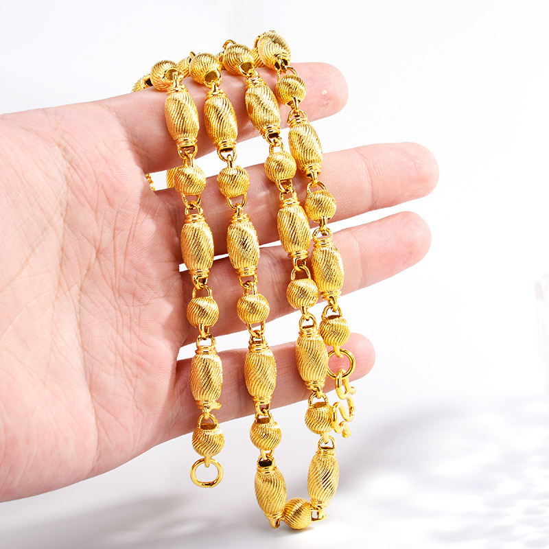 Dainty Golden Beads Necklace for Intricate Ensembles