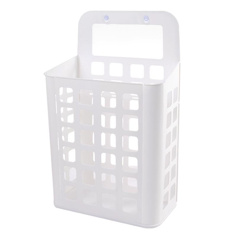 Detachable Plain White Polypropylene Basket for Bath Rooms