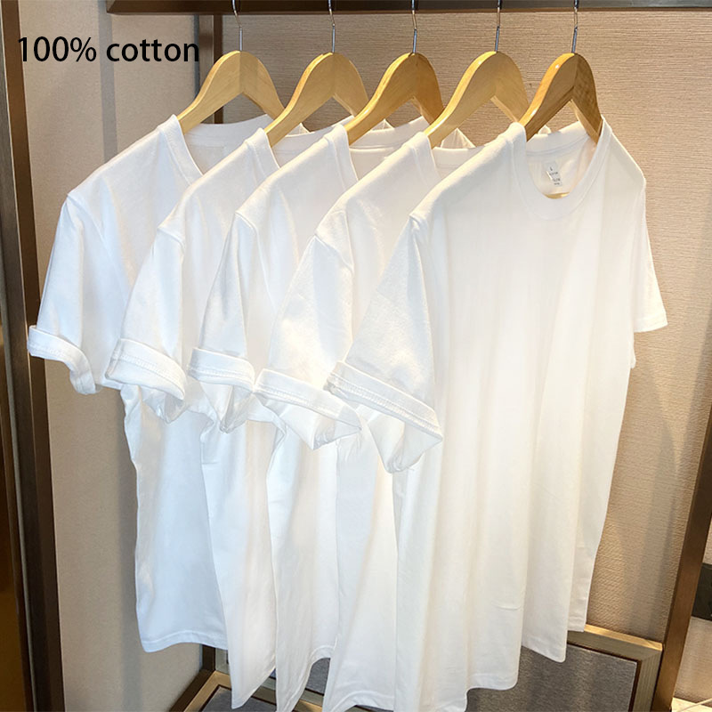 Thick Cotton Plain White and Black Oversized T-Shirt for Hip Hop Fashion Style