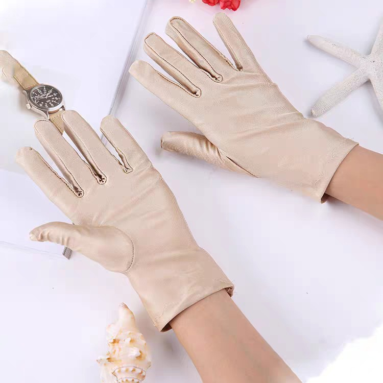 Demure Spandex Gloves for Summer Sun Protection