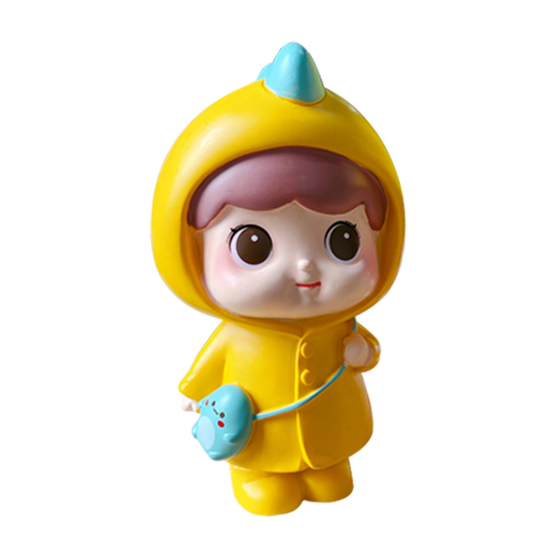 Adorable Girl Resin Figurine for Car Decors (Sold Separately)