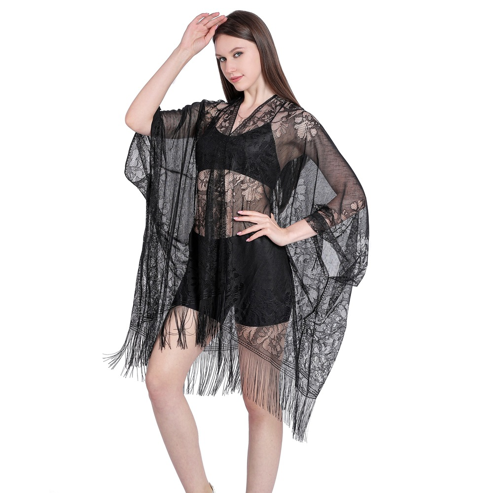 Downy Filmy Shawl for Summery Swimsuit Cover-Up