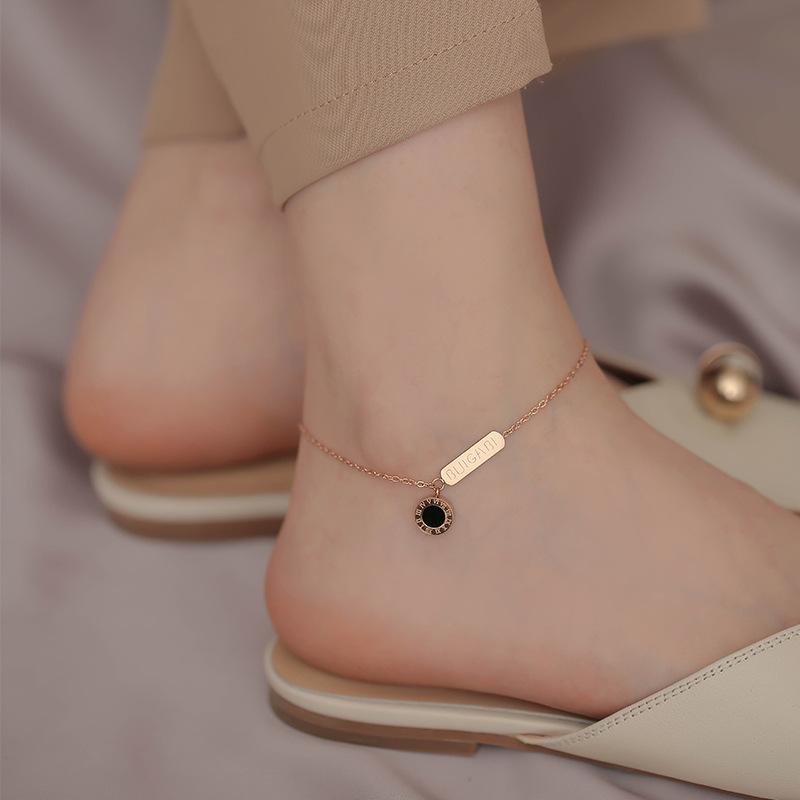 Astounding Titanium Steel Ankle Chain for Elegant Accessories