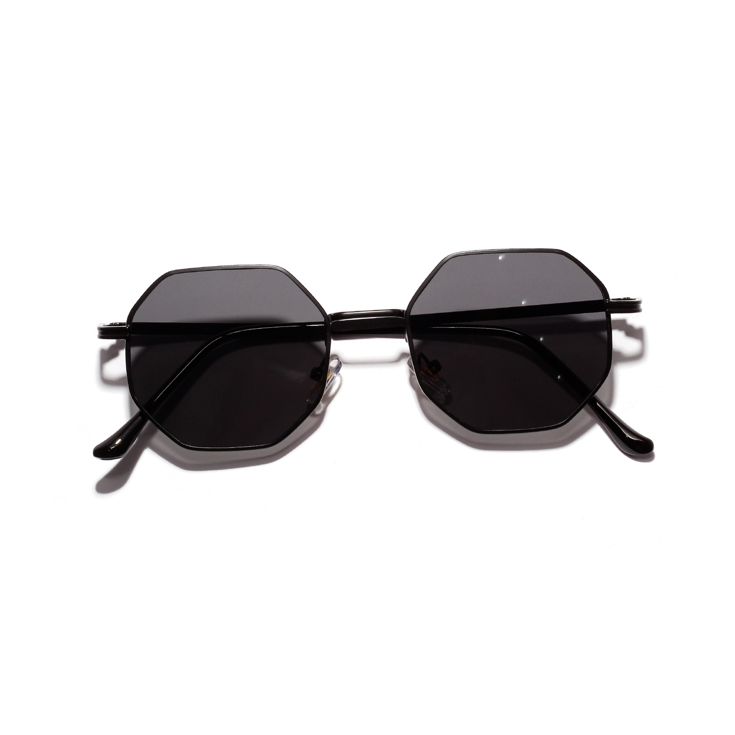 Classy Heptagon Metal Sunglasses for Pool Party