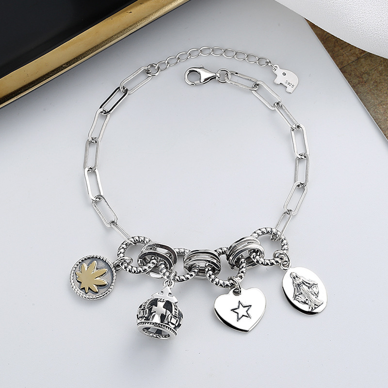 Trendy Charmed Bracelet for Wearing with Streetwear Outfit