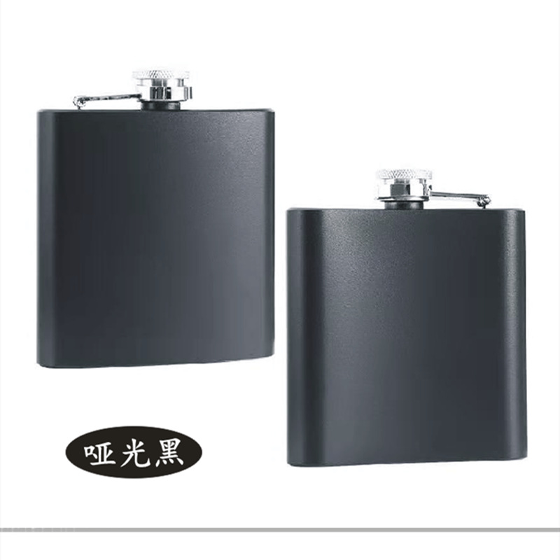 Stainless Steel Portable Square Wine Bottle for Outdoor