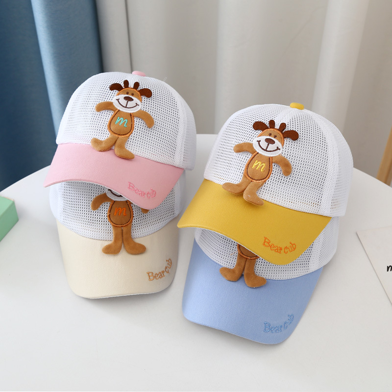 Pastel Hat with Happy Dog Design for Summer Wear