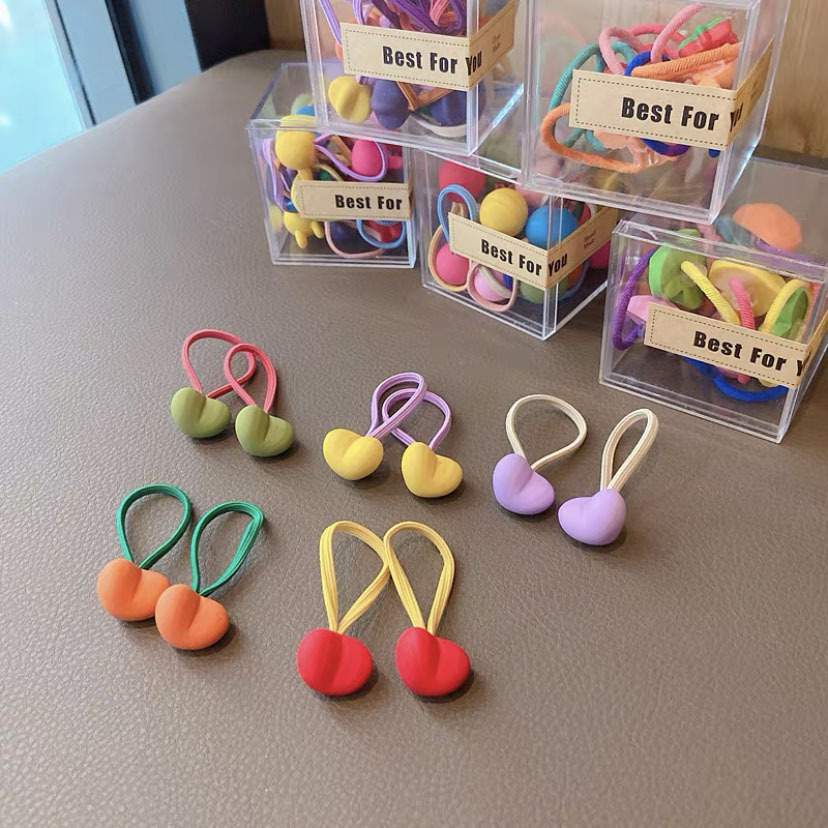 Bicolored Plastic and Resin Hair Tie for Your Children's Hairstyles