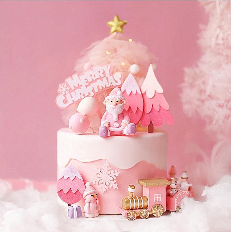 Aesthetic Christmas-Inspired Cake Topper for Cake Decoration