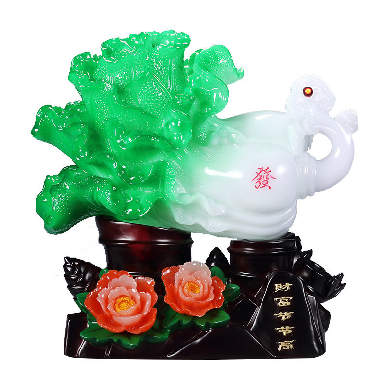 Chinese Cabbage Resin Ornament for Living Room Decoration