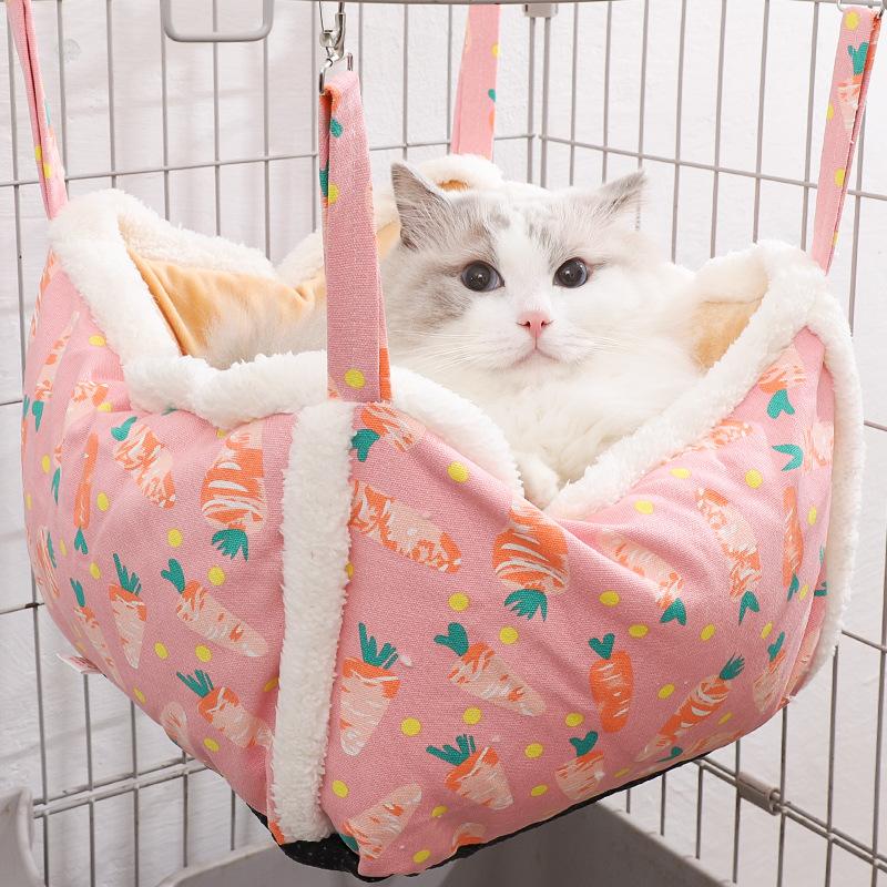 Adorable Printed Hanging Pet Hammock for Pet's Comfortability