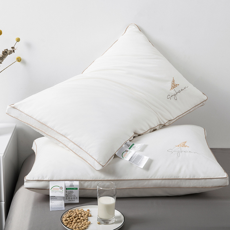 Great Quality Three-Dimensional Soybean Fiber Pillow for a Five-Star Hotel Feels Bedroom
